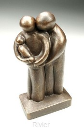 Beeld 17b grootste geschenk 17cm brons