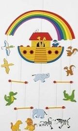 Arche Noah - Mobile aus Holz (H÷he 55 cm