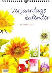 Verjaardagskalender bloemen met tekst