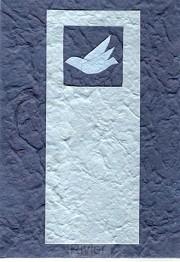 Bijbelomslag duif blauw