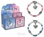 Bracelet bundle of joy pink & blue