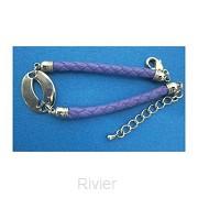 Bracelet purple ichtus laser diecut