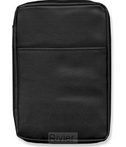 Biblecover faux leather black large