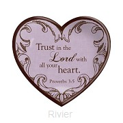 Ceramic heart trust in the Lord