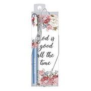 Pen/bookmark God is good flower