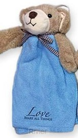Cuddle cloth bear blue love bears all th