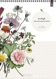 Vrolijk verjaardagkalender bloemen uit