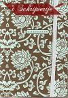 Adresboek bruin/groen 10,5 x 15 cm