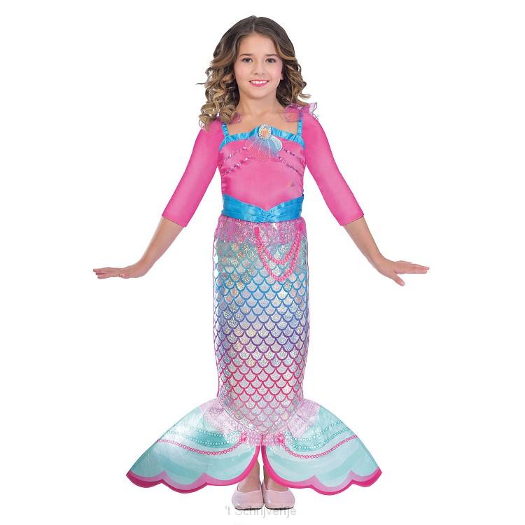 Verkleedset Regenboog Zeemeermin, 5-7 jaar