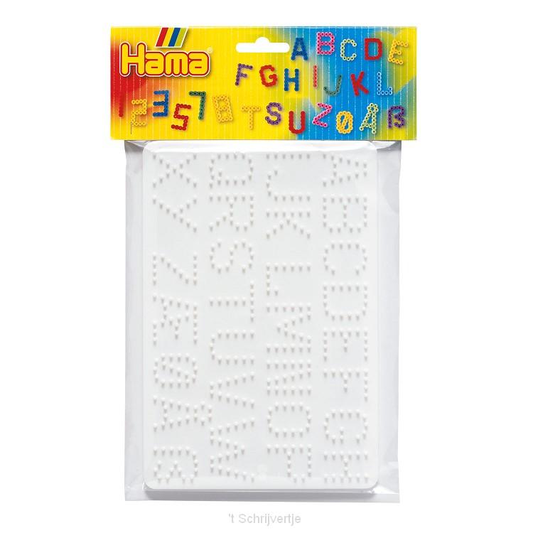 Hama Strijkkralenbordjes - Letters en Cijfers