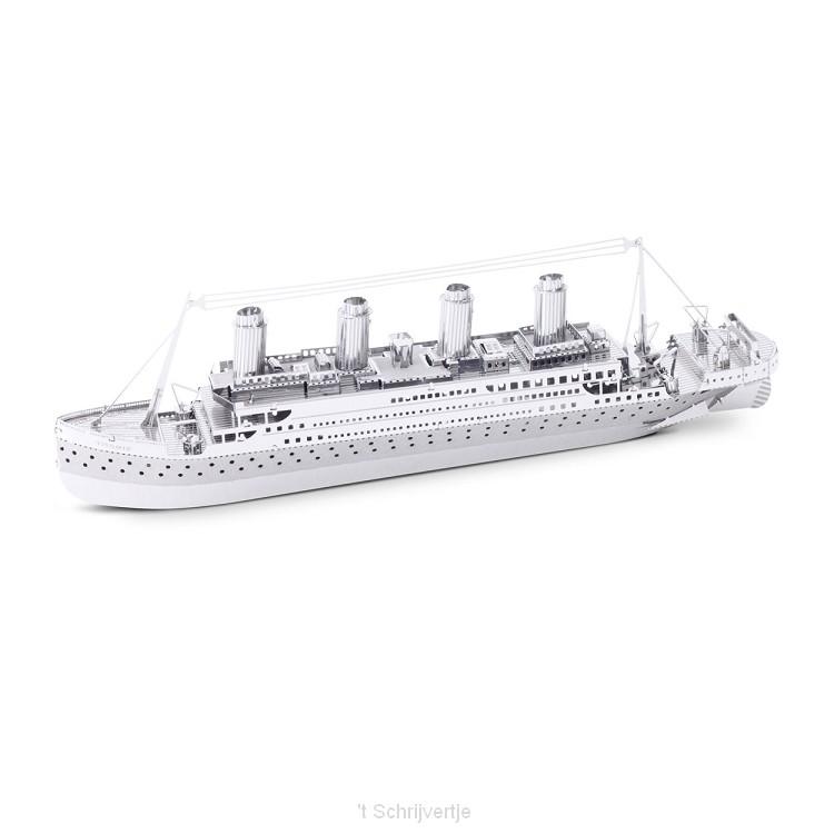 Metal Earth Titanic Ship Zilver Editie