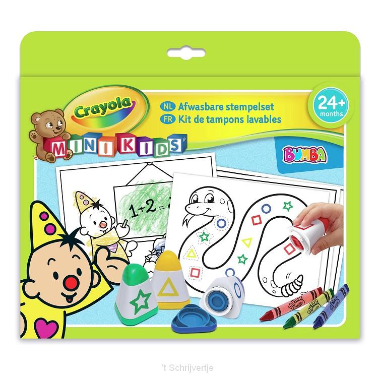 Crayola Mini Kids Bumba Stempelset, 32dlg.