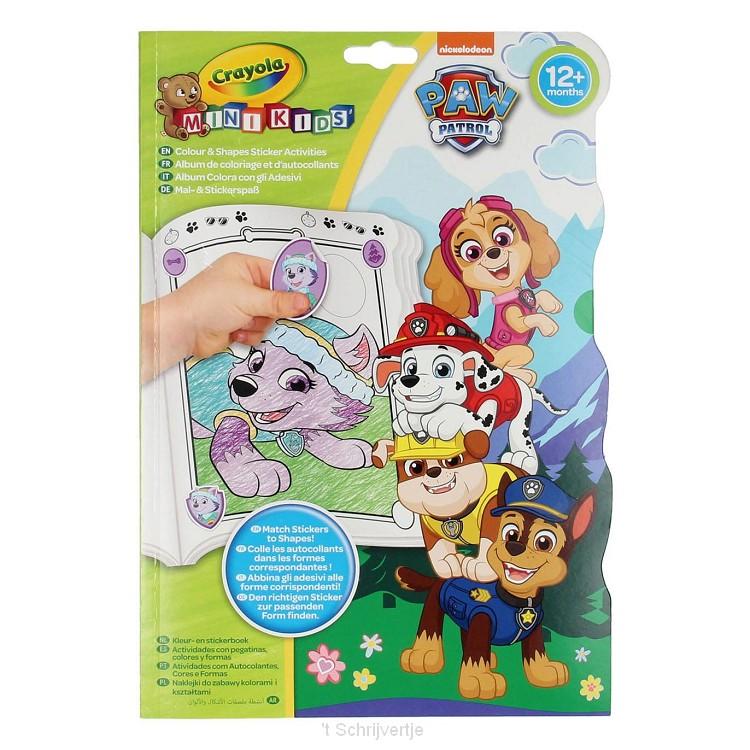 Crayola Mini Kids - Kleur- en Stickerboek Paw Patrol