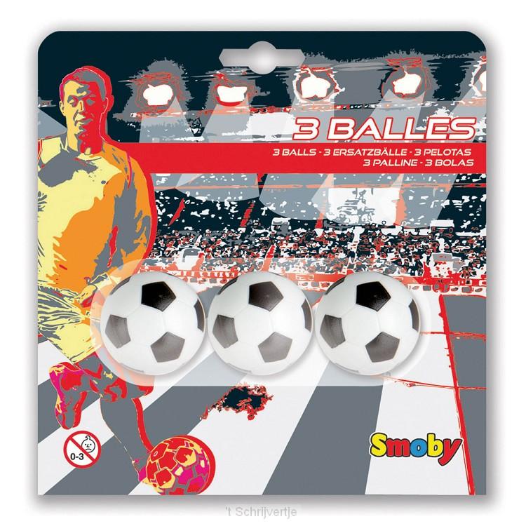 Smoby Tafelvoetbal Balletjes, 3st.