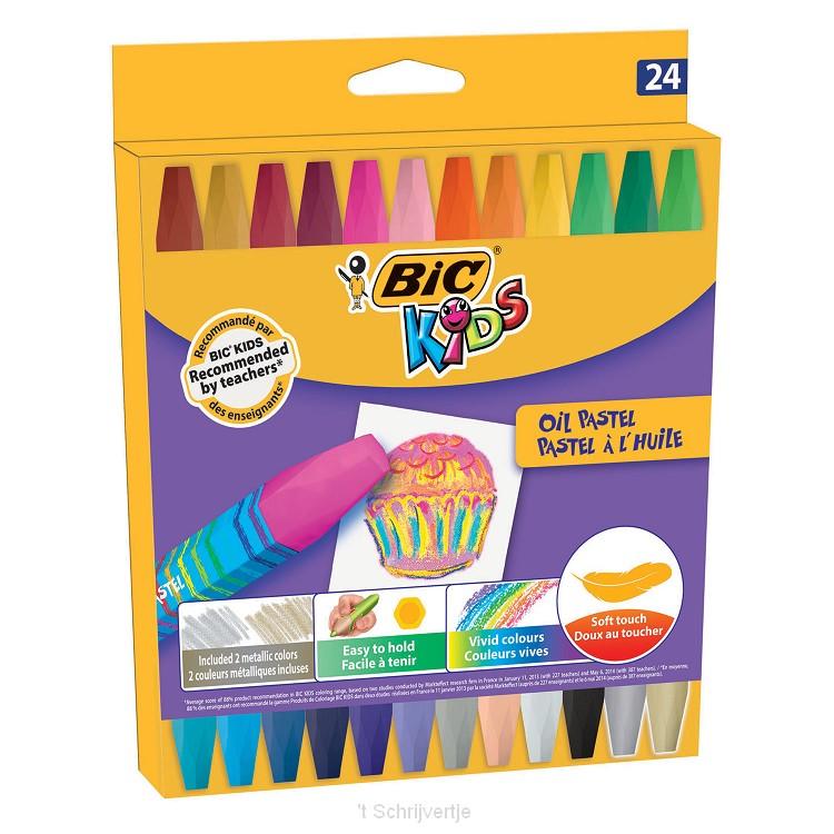 BIC Kids Olie Pastel Krijtjes, 24st.