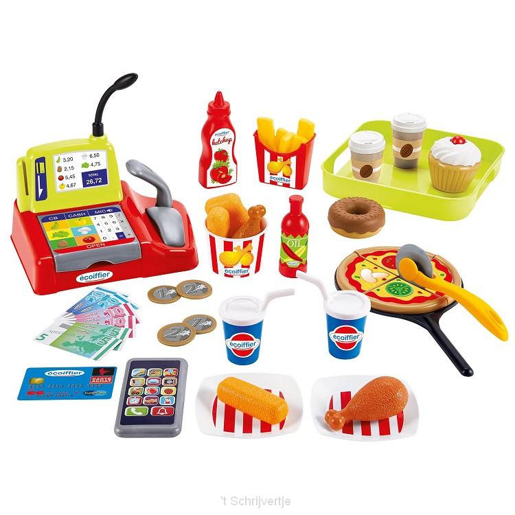 Ecoiffier 100% Chef Fast Food met Kassa