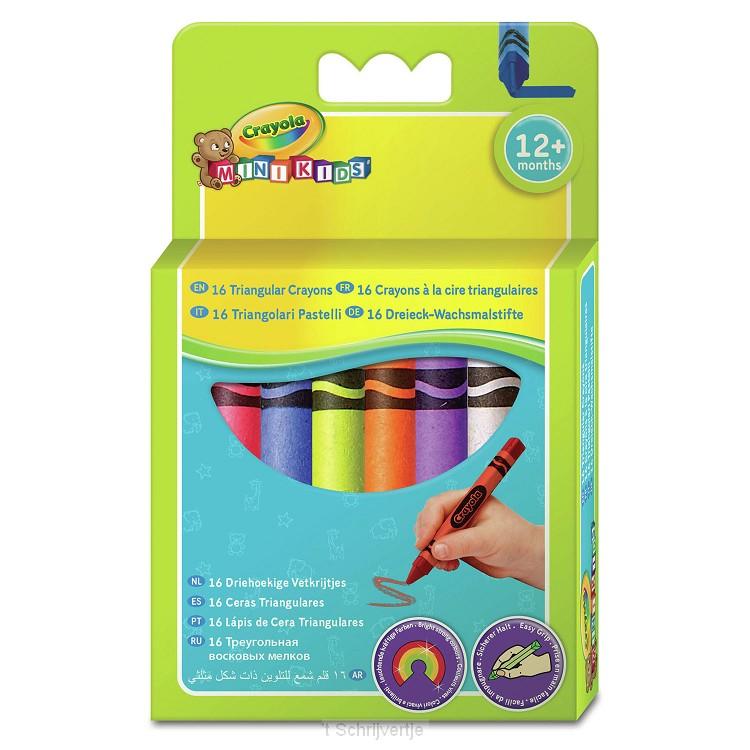 Crayola Mini Kids - Waskrijtjes, 16st.