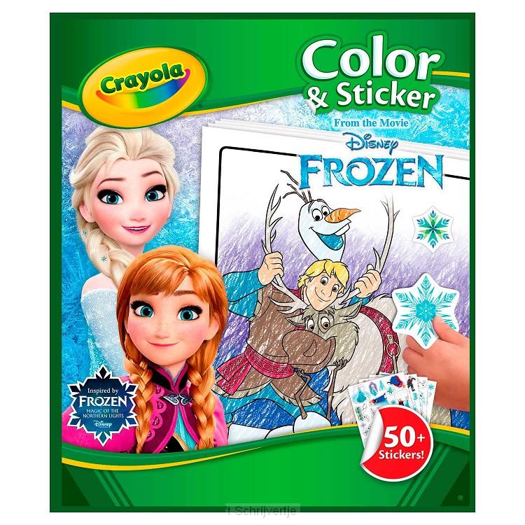 Crayola Frozen 2 Kleur- en Stickerboek