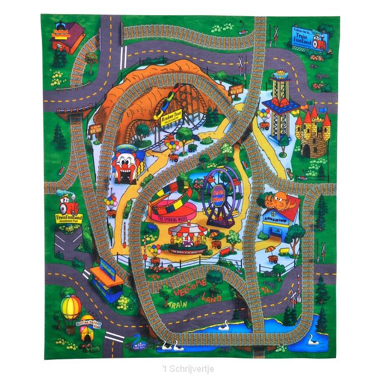 Speelmat met Auto Pretpark