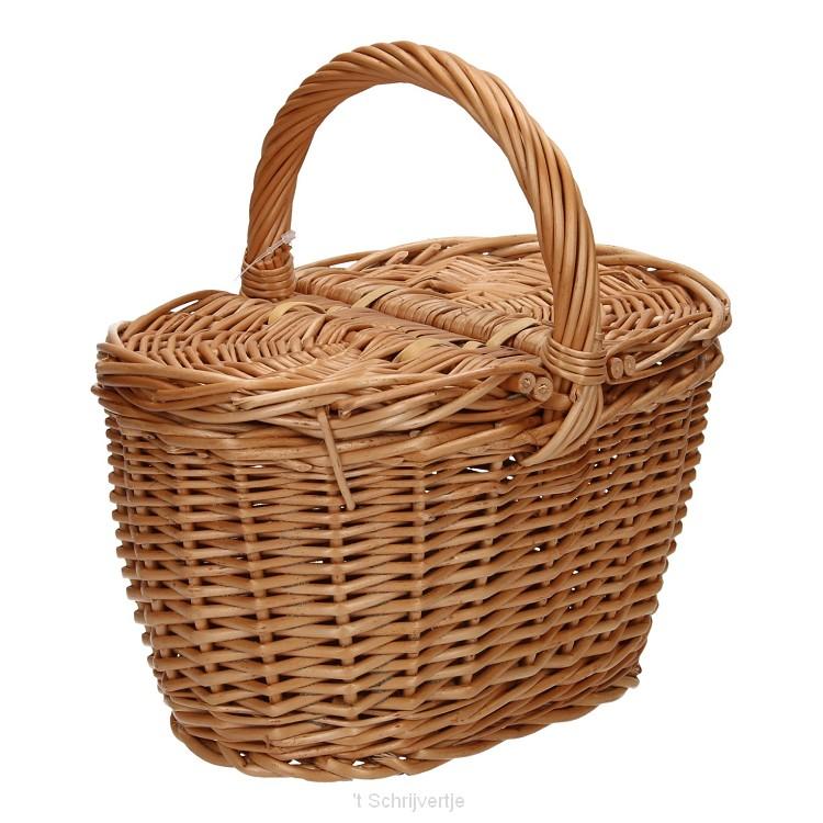 Rieten Picknick- of Draagmand