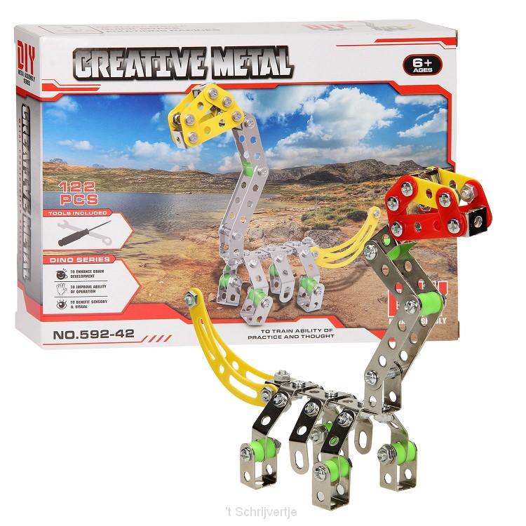 Constructieset Metaal Dino, 122 dlg.
