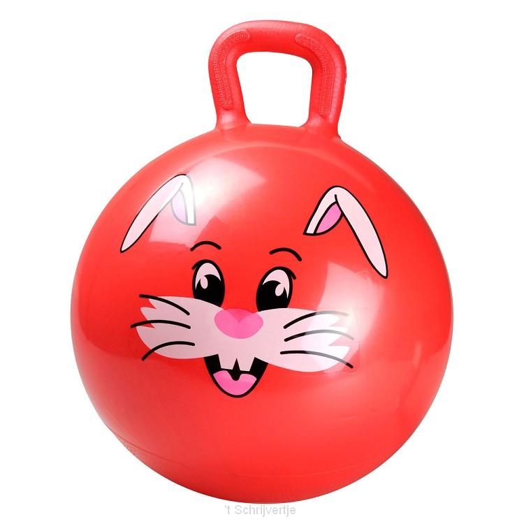 Rode Skippybal Dier, + 45 cm