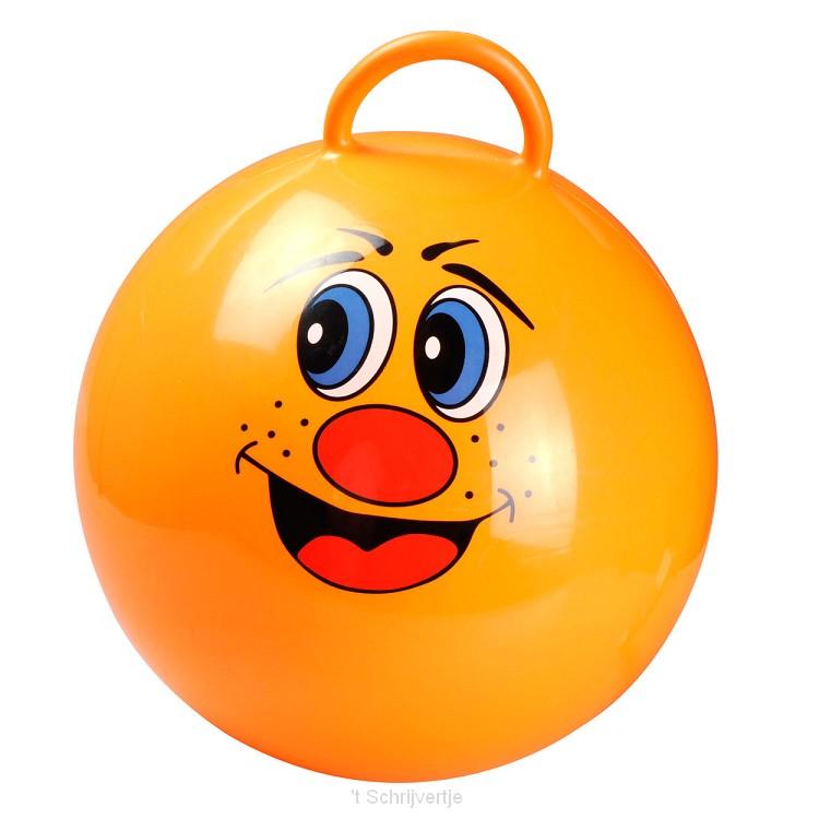 Oranje Skippybal Lach, + 55 cm