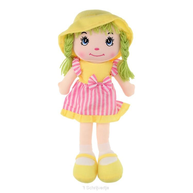 Lappenpop Meisje - Geel