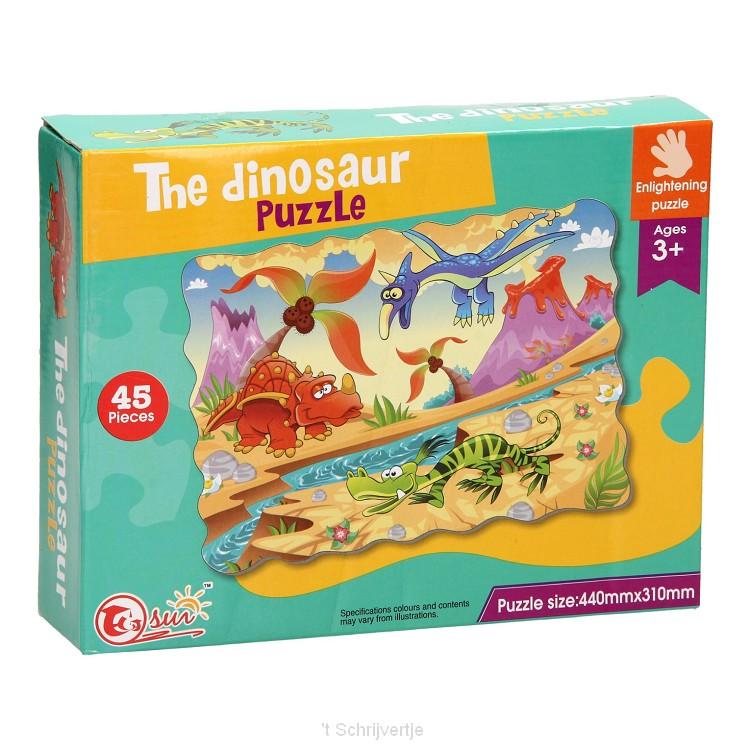 Vloerpuzzel Dinosaurus, 45st.