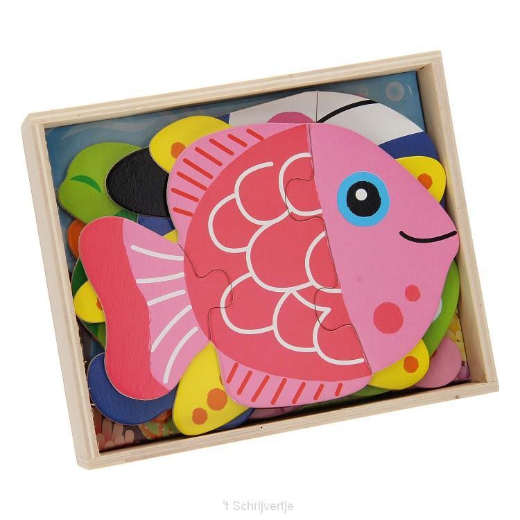Puzzelbox met 6 Puzzels - Onderwaterwereld