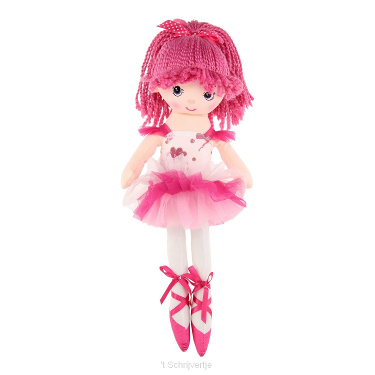 Lappenpop Ballerina, 40cm - Roze
