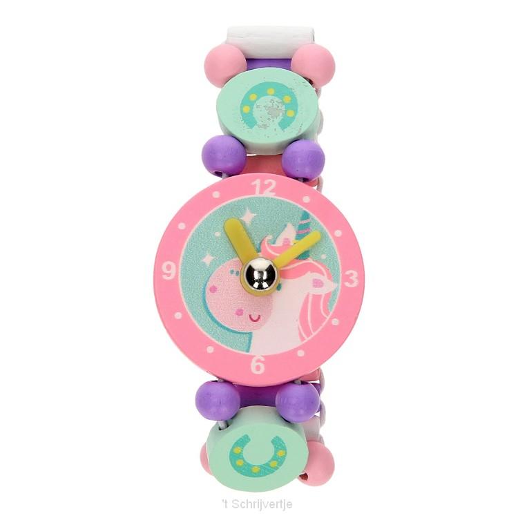 Houten Horloge - Eenhoorn