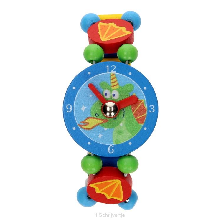 Houten Horloge - Draakje