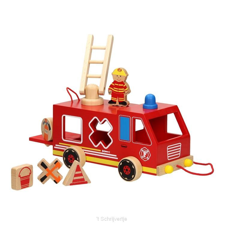 Trekfiguur Vormenwagen Brandweer