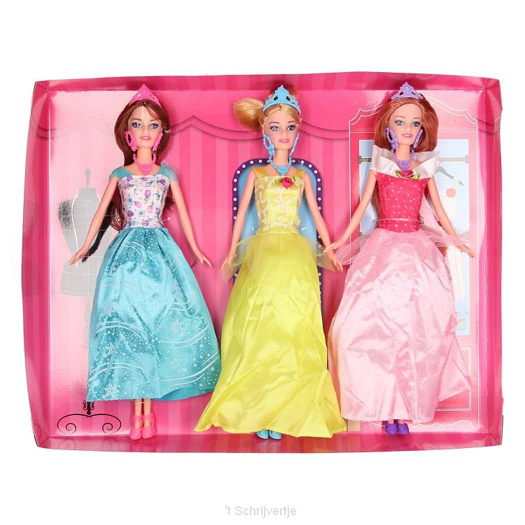 Calleigh - Poppenset Galajurk, set van 3