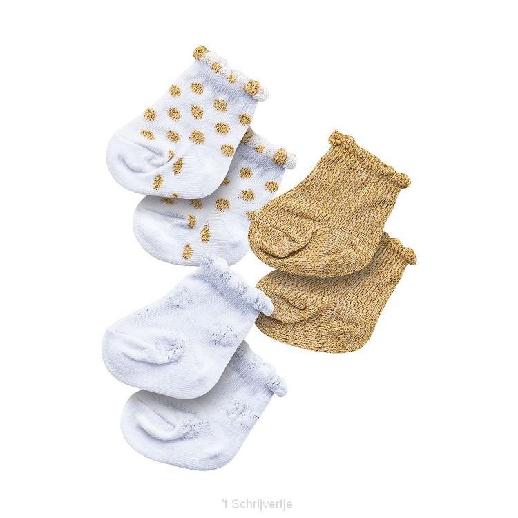 Poppensokken Glitter - 3 paar, 35-45 cm