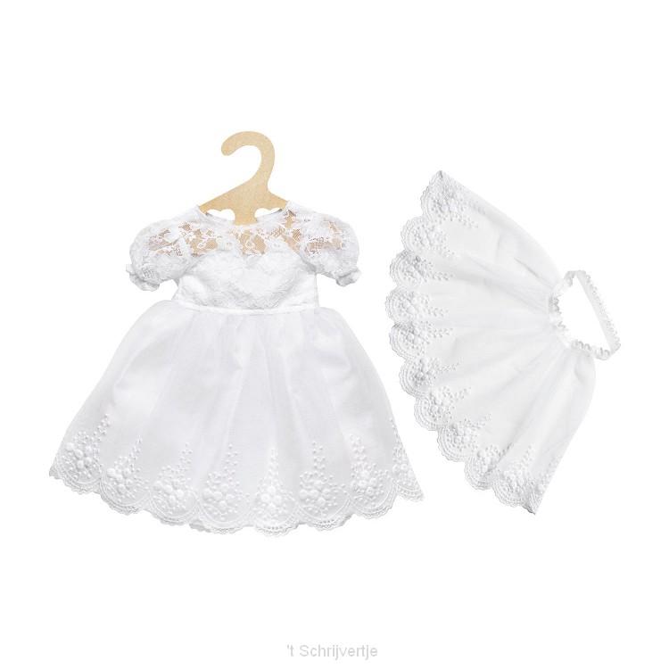 Poppen Trouwjurk met Sluier, 28-35 cm