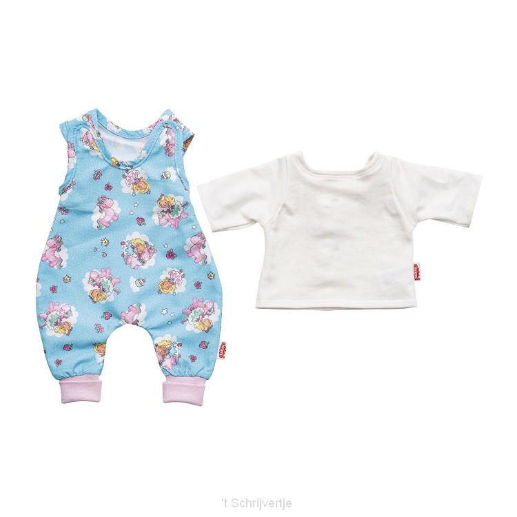 Poppenromper Eenhoorn, 28-35 cm