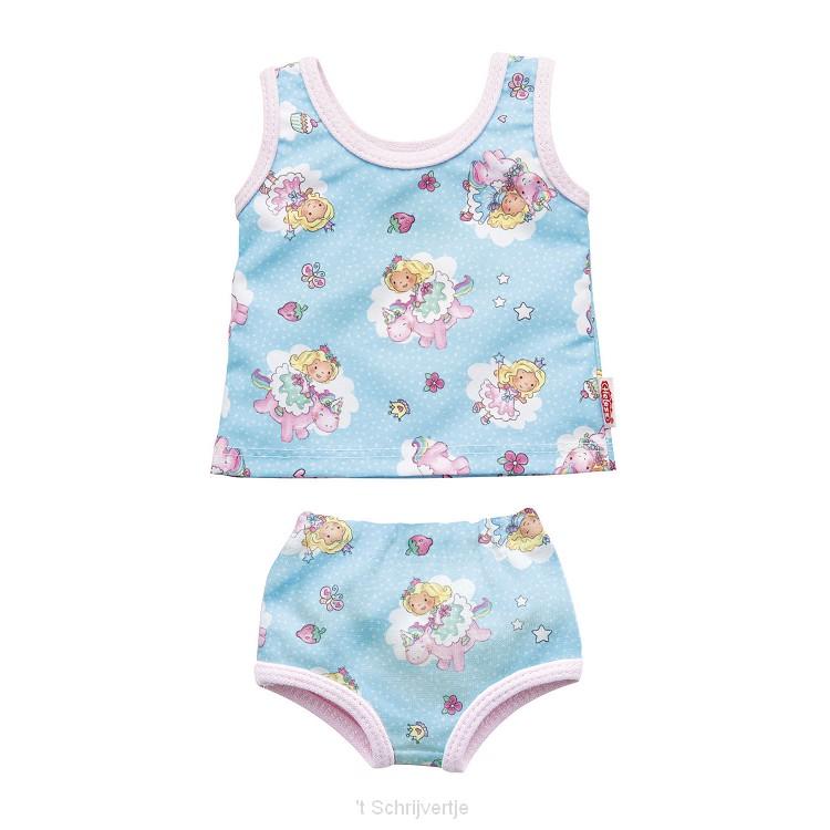Poppenondergoed Eenhoorn, 28-35 cm