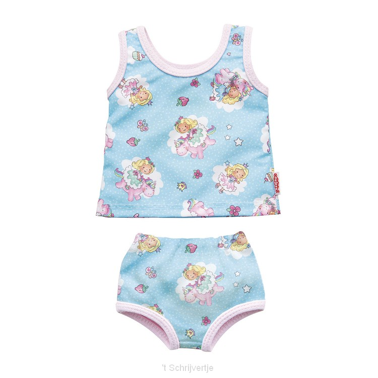 Poppenondergoed Eenhoorn, 35-45 cm