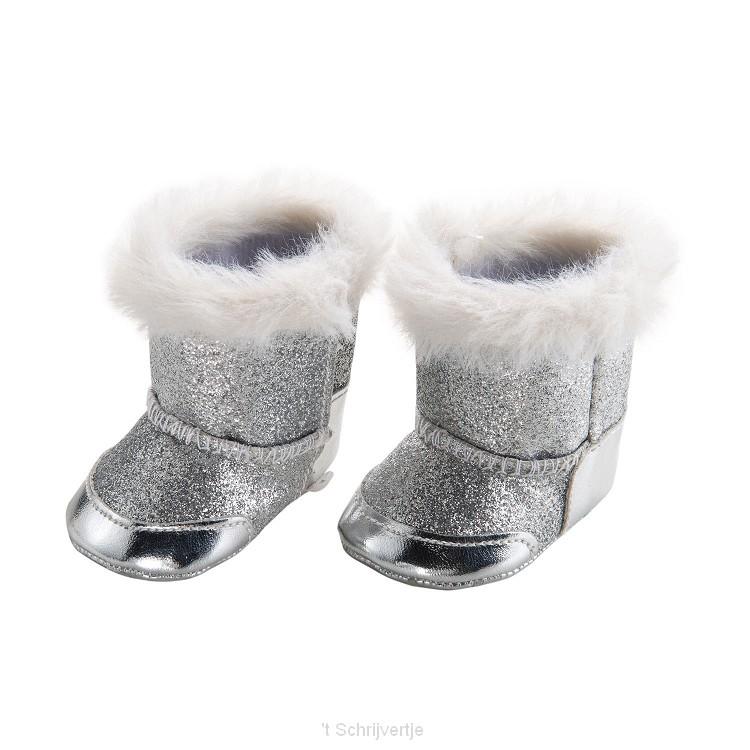 Poppenschoenen Zilver, 38-45 cm
