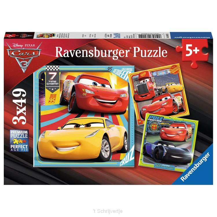 Disney Cars 3 Puzzel, 3x49st.