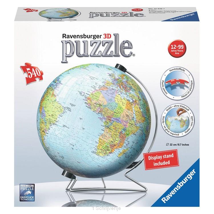 3D Globe Aarde, 540st.