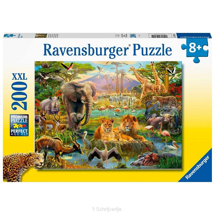 Dieren van de Savanne Puzzel, 200st. XXL