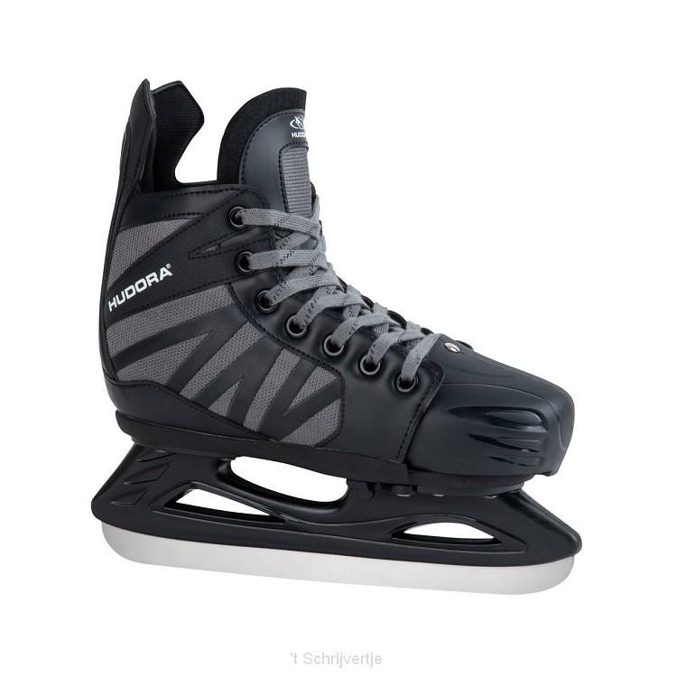 Hudora  Power Play IJshockeyschaatsen Zwart, Maat 32-35