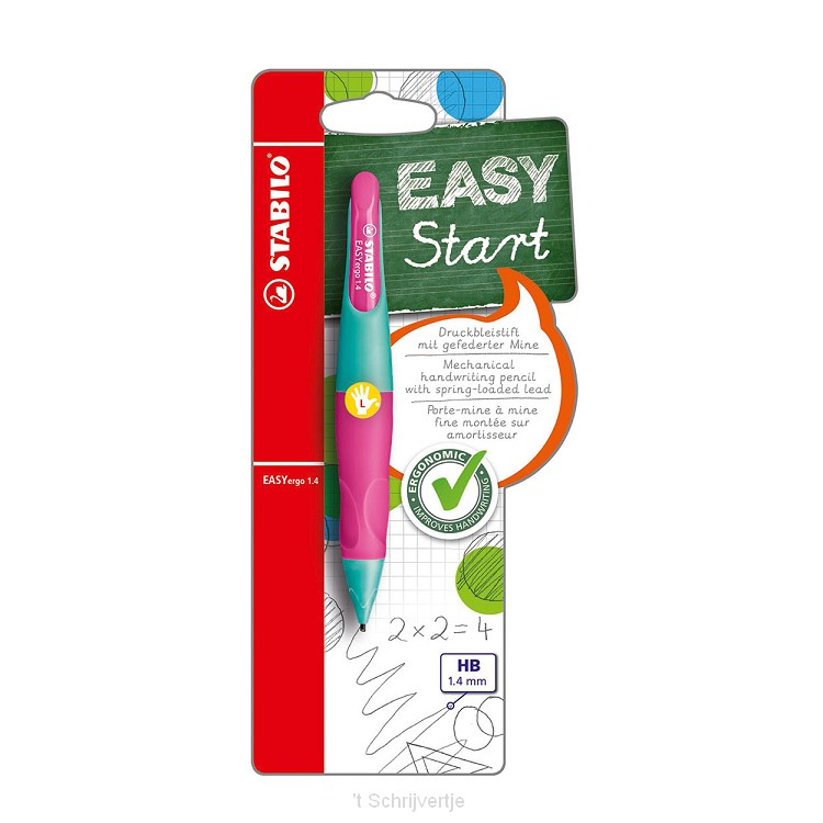 STABILO EASYergo 1.4 Linkshandig - Neon Roze