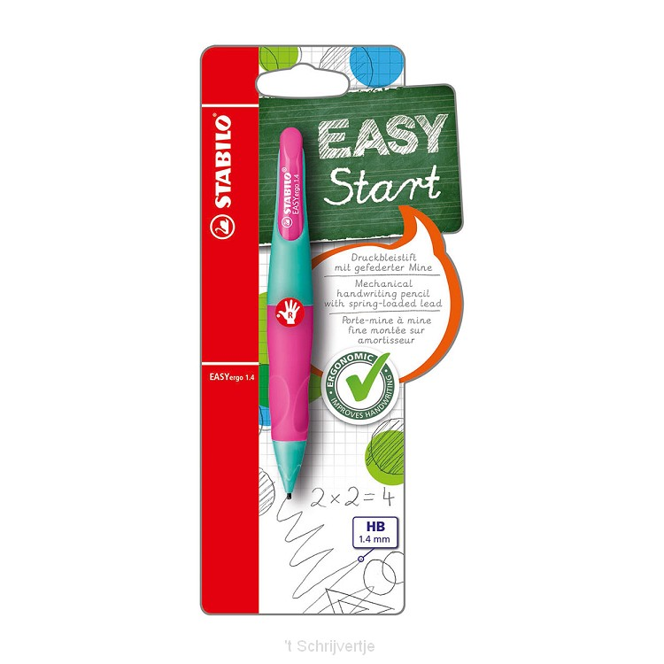 STABILO EASYergo 1.4 Rechtshandig - Neon Roze