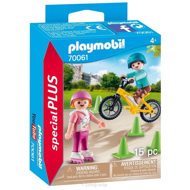 Playmobil 70061 Kinderen met Fiets en Skates
