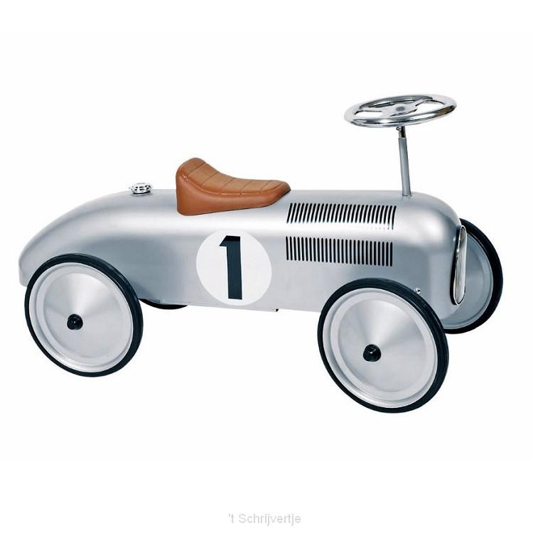 Retro Loopauto Zilver