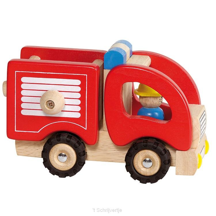 Houten Brandweerauto